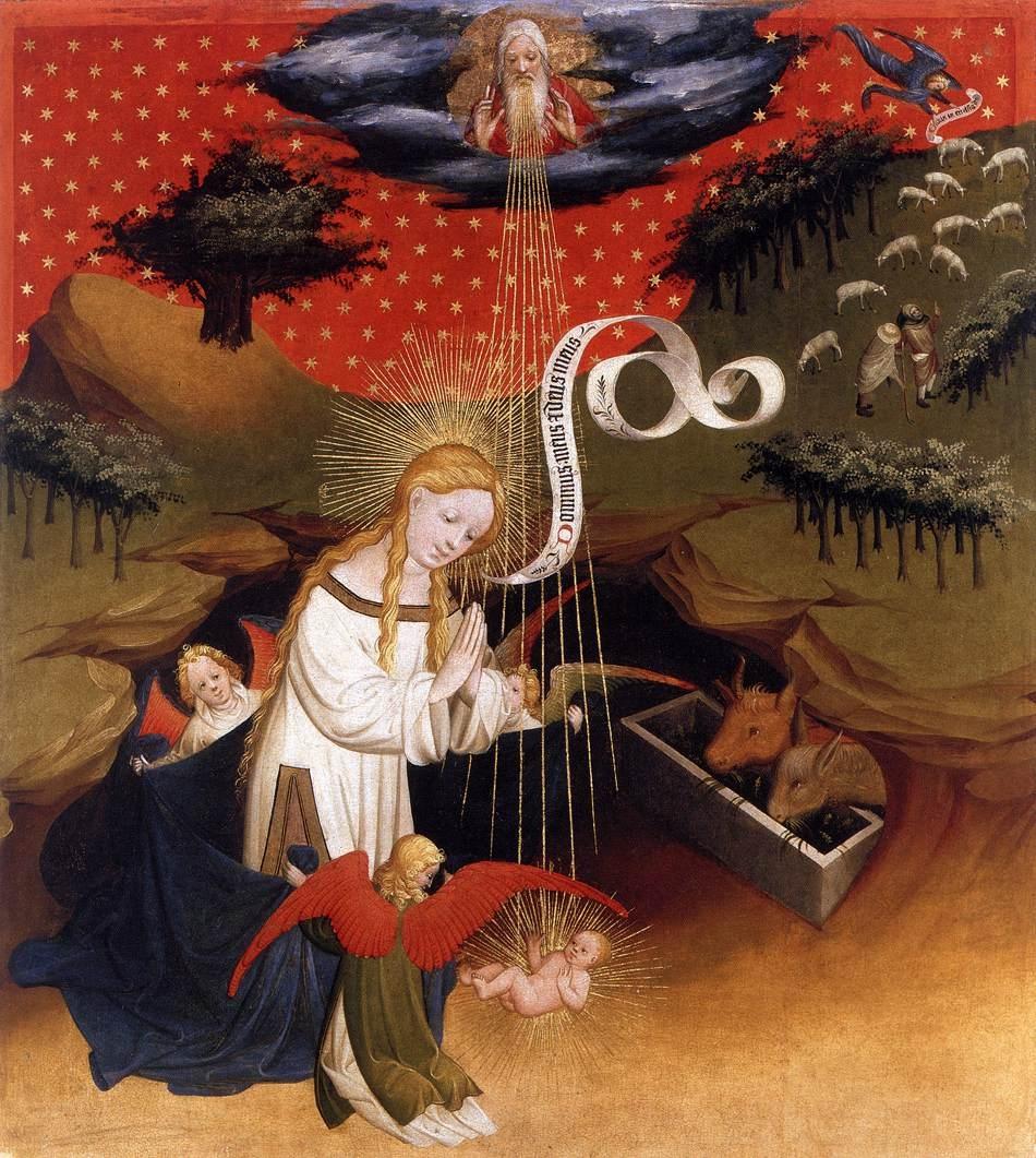 Misteri della gioia, Natività dans immagini sacre